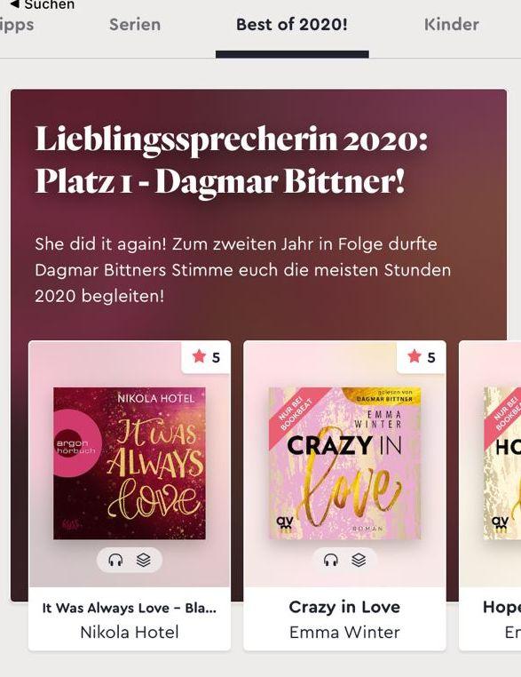 Bookbeat Lieblingssprecherin 2020